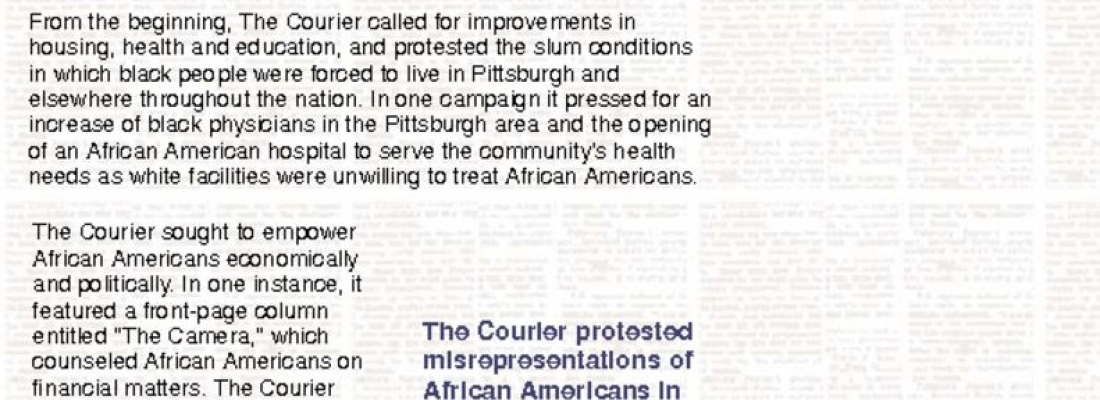 The Pittsburgh Courier